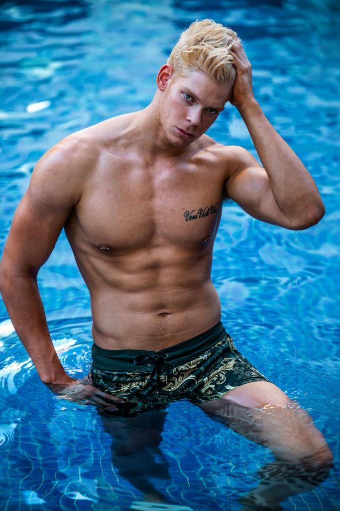 Brisbane topless waiter Bodhi